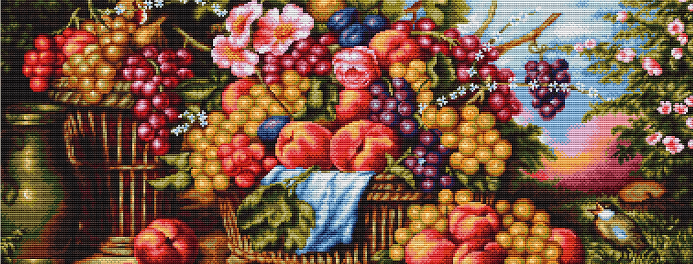 B475 Still life in the background of nature - Cross Stitch Kit Luca-S
