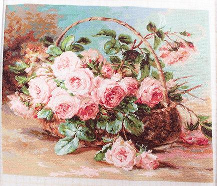 G547 Cesta de rosas - Luca-S - Kit de Petit Point