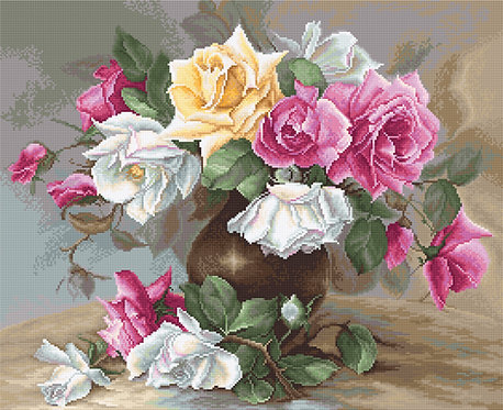 G587 Vase with Roses