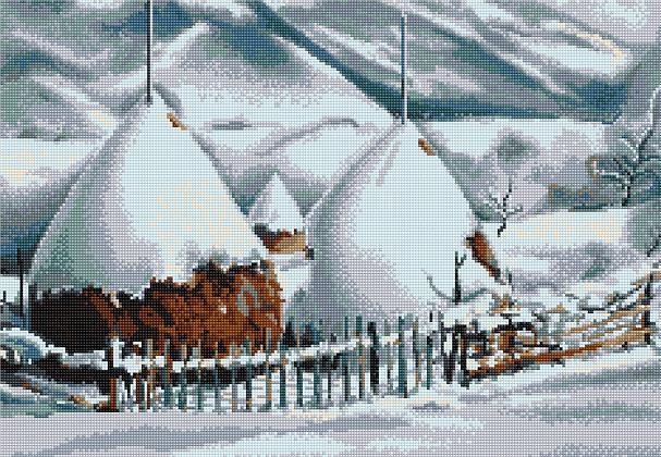 Snowy Haystacks