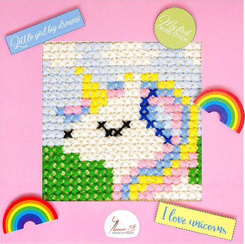 X06 Unicorn - Cross Stitch Kit Luca-S