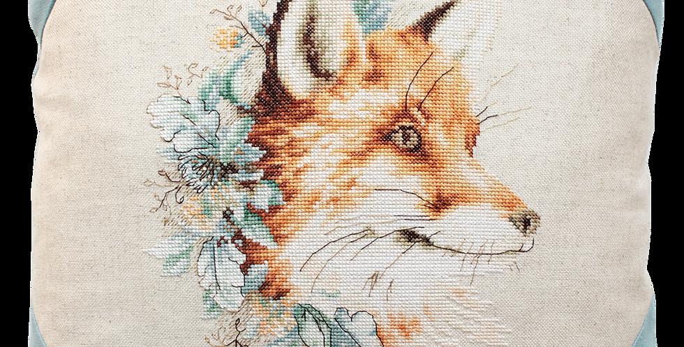 PB111 Fox among flowers - Pillow Case