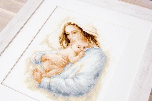 B537 Madre y hijo - Luca-S - Kit de Punto de Cruz