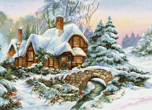 BU5001 Winter landscape - Cross Stitch Kit Luca-S