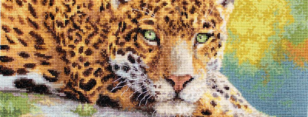 LETI 920 Peaceful Jaguar - Cross Stitch Kit LETISTITCH