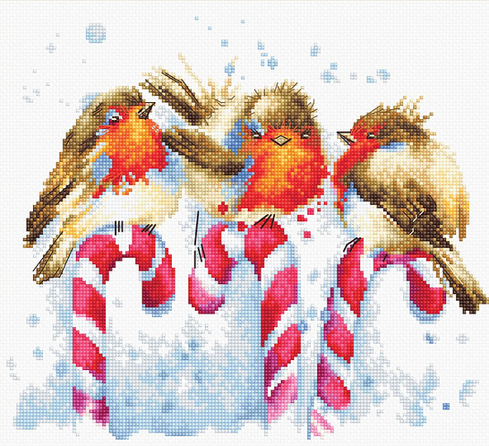 B1154 Christmas Birds