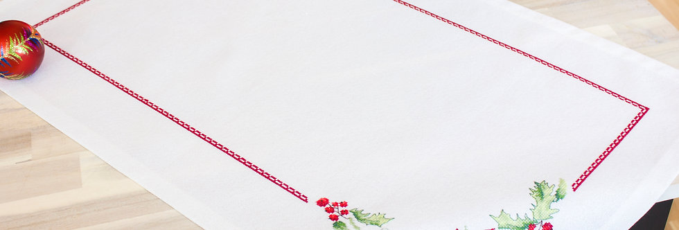 FM001 Christmas Flowers - Tablecloth Luca-S