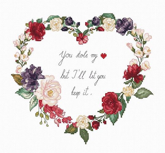B1163 Heart - Luca-S - Kit de Punto de Cruz