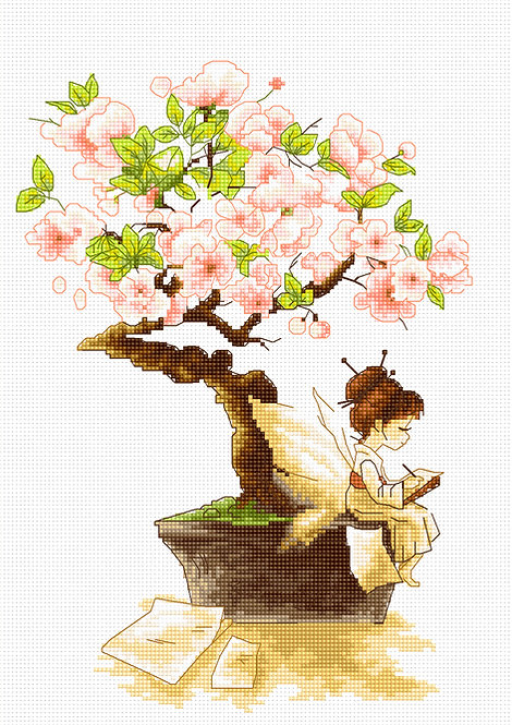 B1114 El hada de Sakura - Luca-S - Kit de Punto de Cruz