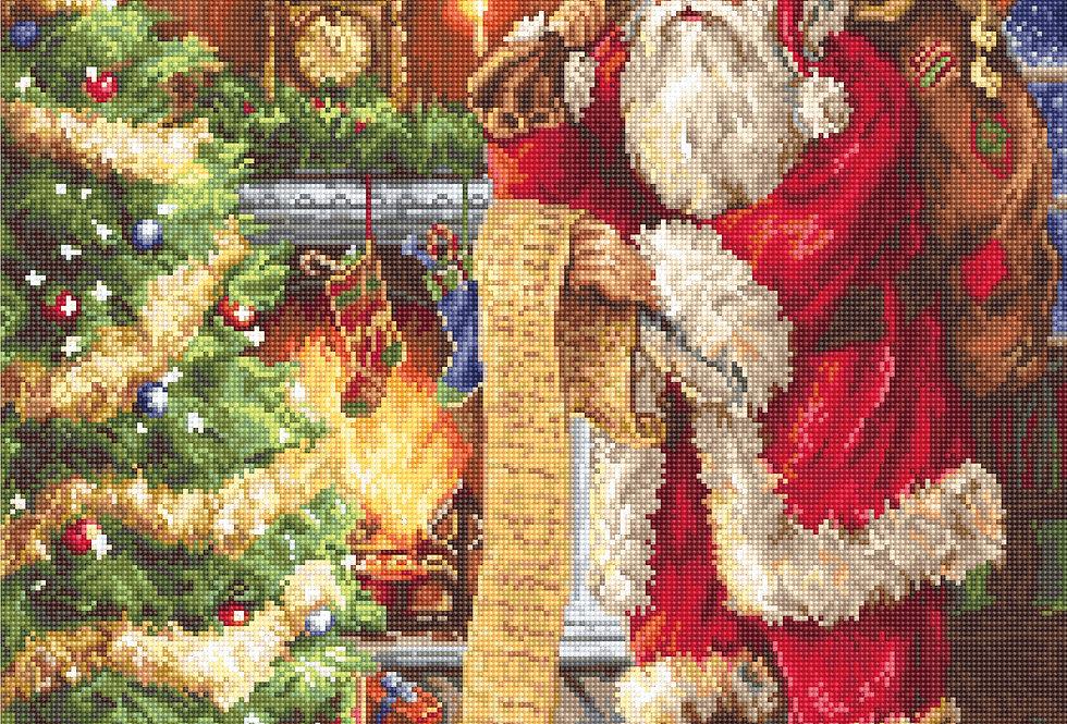 G578 Santa's List - Petit Point Kit Luca-S
