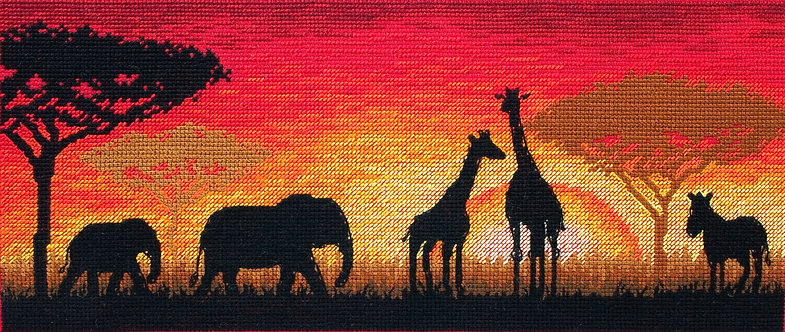 Horizonte africano - Maia Collection - Kit de punto de cruz