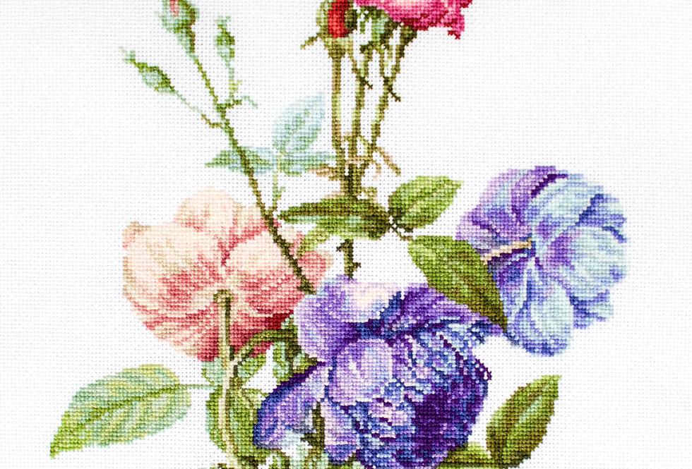 B2349 Flower Bouquet - Cross Stitch Kit Luca-S