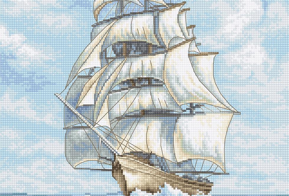 LETI907 Ship - Cross Stitch Kit LETISTITCH