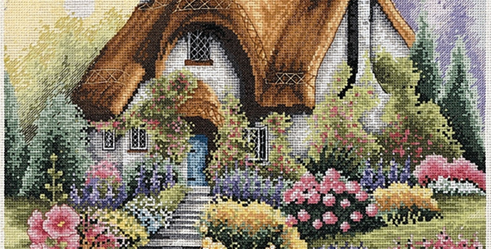 Anchor Essentials Cross Stitch Kit - Lakeside Cottage