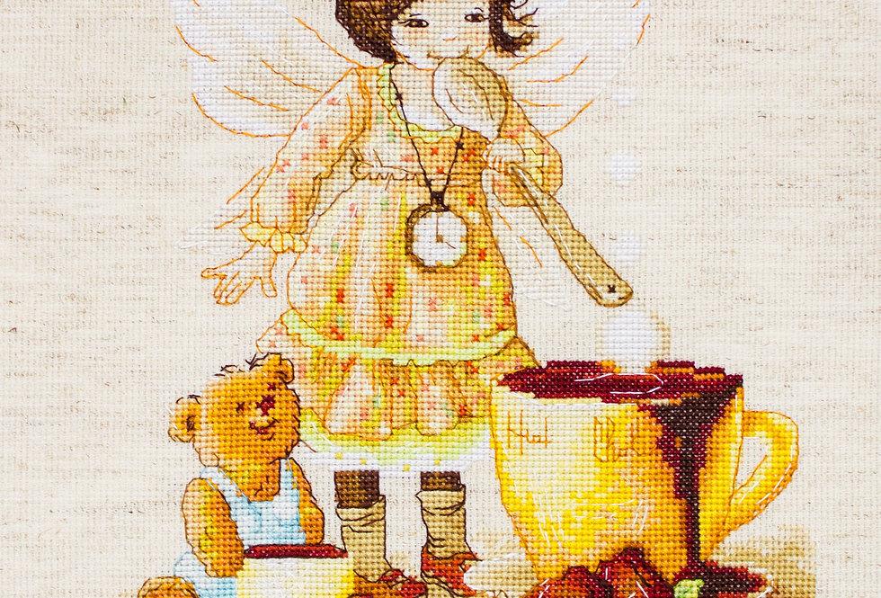 B1131 The chocolate fairy - Cross Stitch Kit Luca-S