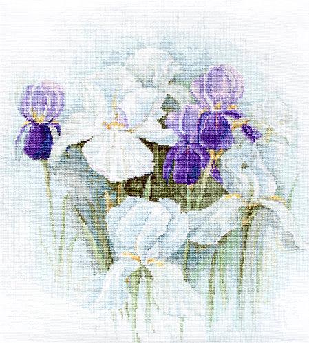 B2367 Irises - Luca-S - Kit de Punto de Cruz