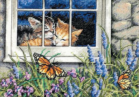 Feline Love - 65051 Dimensions - Kit de punto de cruz