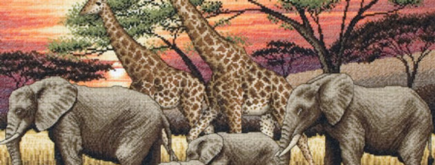 Maia Cross Stitch Kit - African Sunset