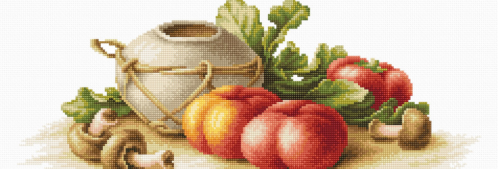 B2249 Still Life with Vegetables - Cross Stitch Kit Luca-S