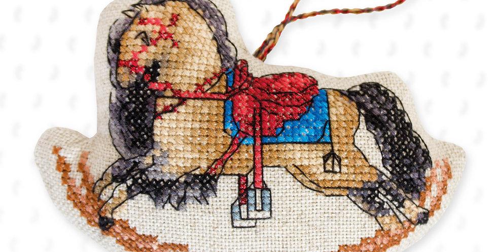 JK027 Wooden horse - Cross Stitch Kit Luca-S