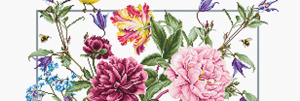 B2359 Spring flowers - Cross Stitch Kit Luca-S