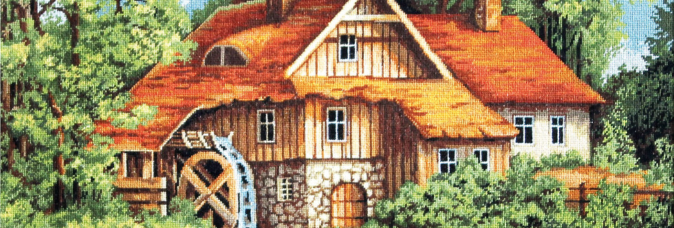 B480 Mill in the Forest - Cross Stitch Kit Luca-S