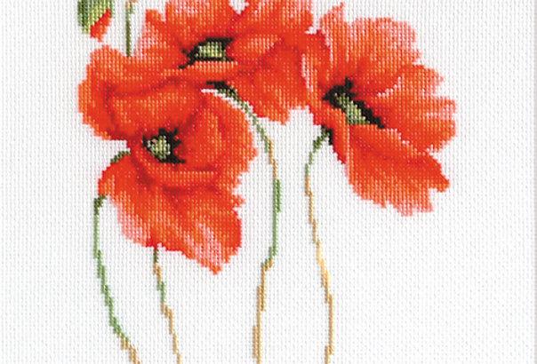 B2224 Poppies - Cross Stitch Kit Luca-S