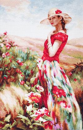 Between flowers