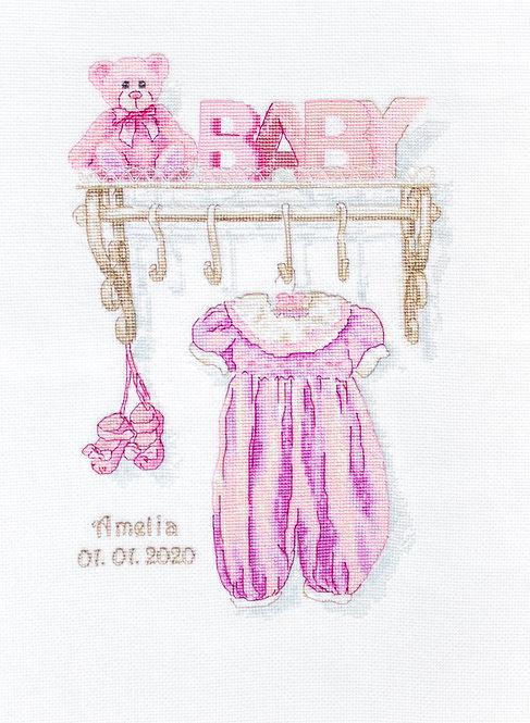B1175 Natalicio - Baby girl birth - Luca-S - Kit de Punto de Cruz