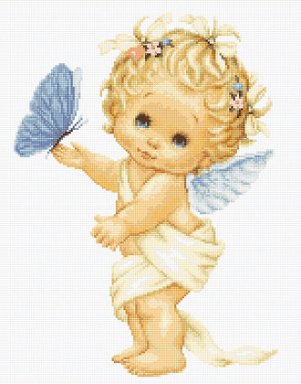 Little angel with the butterfly