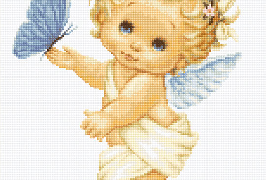 B368 Angel and Butterfly - Cross Stitch Kit Luca-S