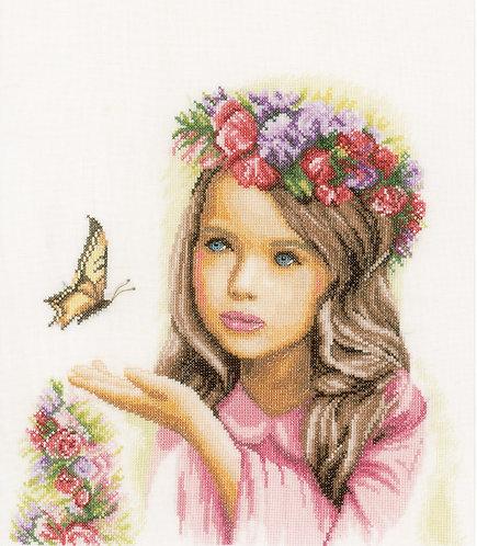 Angel with Butterflies - Lanarte - Kit de punto de cruz