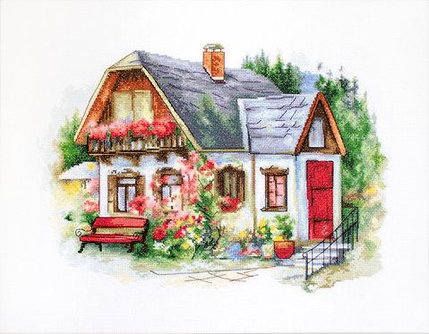BU4005 Beautiful Country House, kit de punto de cruz Luca-S