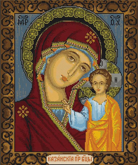B436 Icon of Kazan Mother of God - Cross Stitch Kit Luca-S