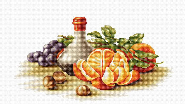 Still life of oranges