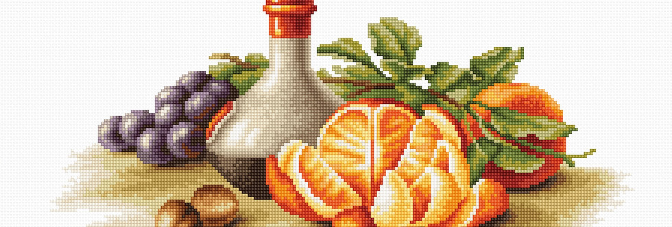 B2250 Still Life with Oranges - Cross Stitch Kit Luca-S