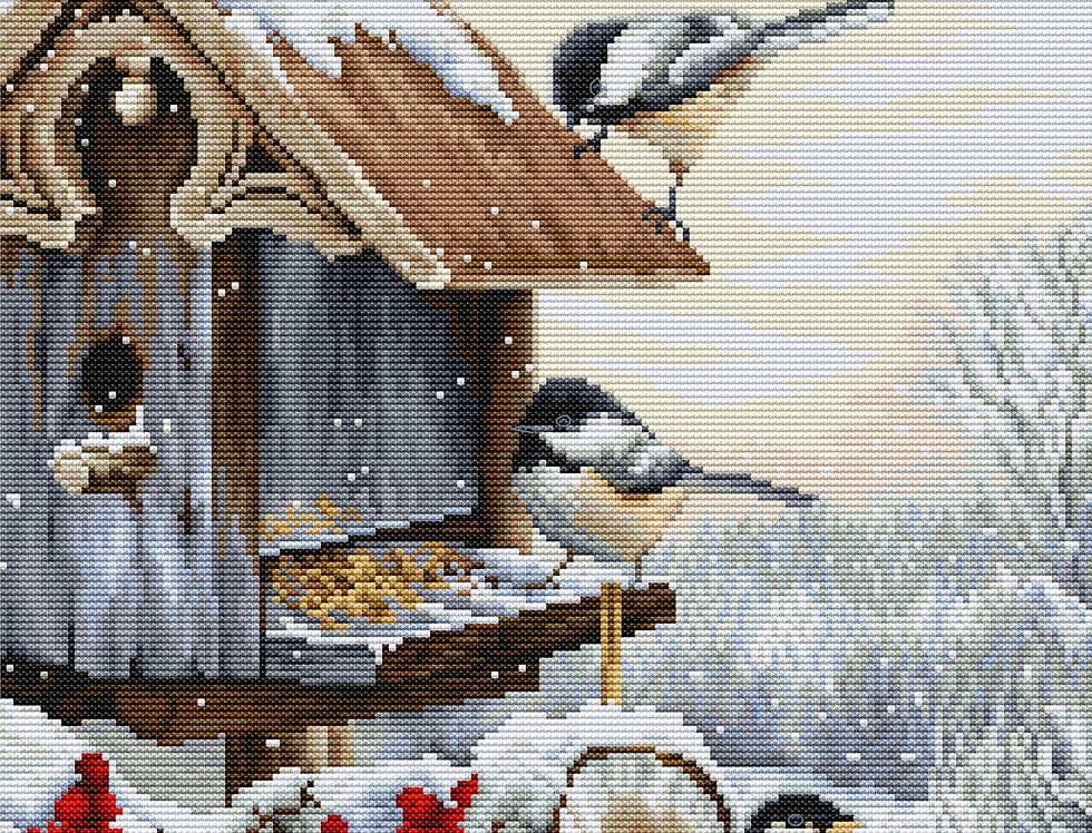 BU4021 Bird House - Cross Stitch Kit Luca-S