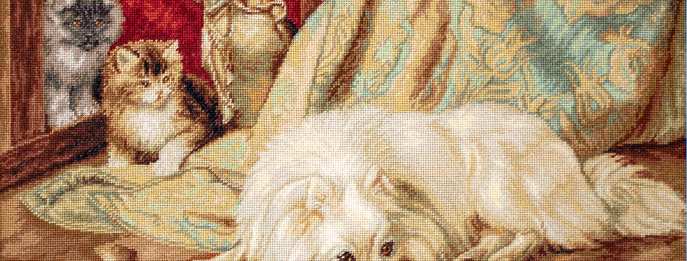 G582 The Dog and the Cats - Petit Point Kit Luca-S