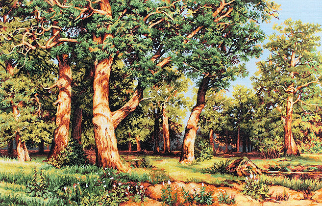 The forest, reproduction of I.I. Shishkin