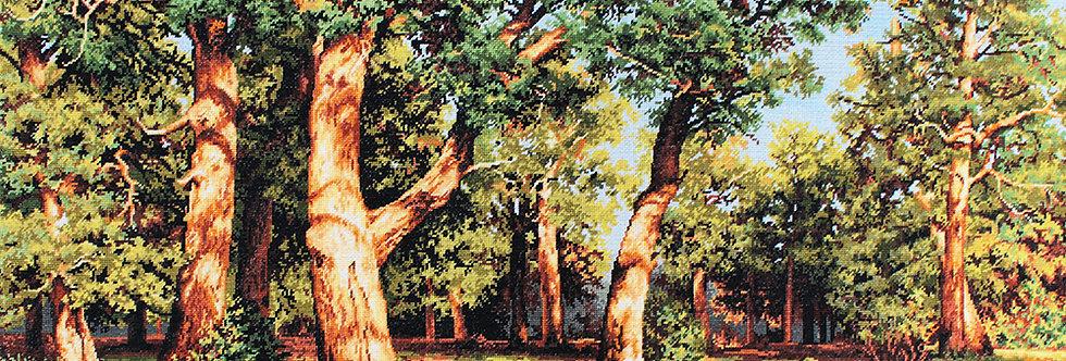 B476 The forest, reproduction of I.I. Shishkin - Cross Stitch Kit Luca-S