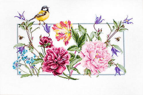 BA2359 Flores de primavera - Luca-S - Kit de Punto de Cruz