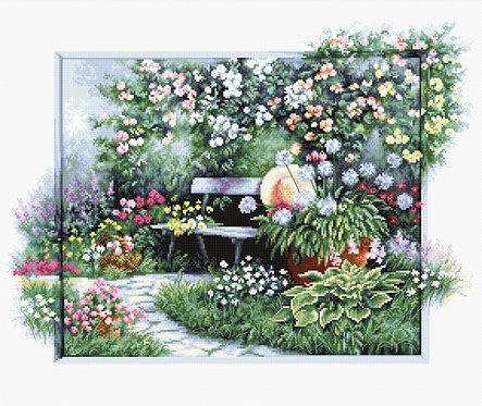 BU4012 Jardín floreciente - Kit de Punto de Cruz Luca-S