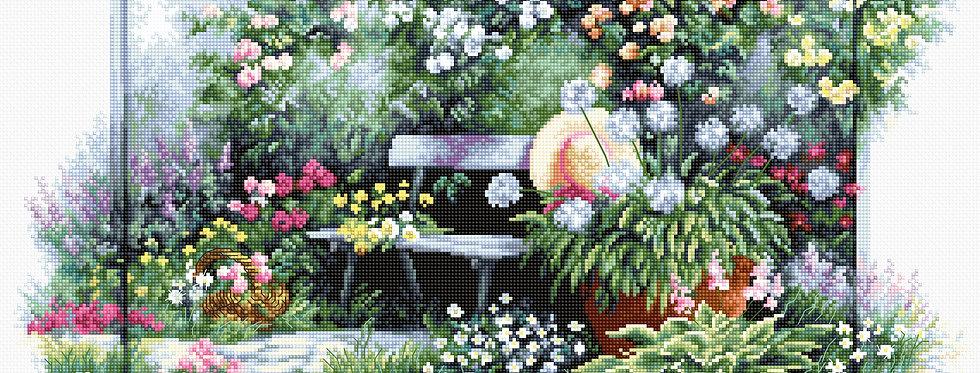 BU4012 Blooming Garden - Cross Stitch Kit Luca-S