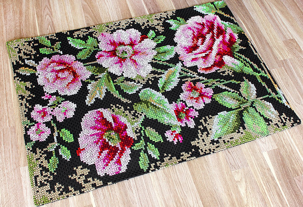 Decorative rug - Roses