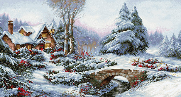 BU5002 Winter landscape - Cross Stitch Kit Luca-S