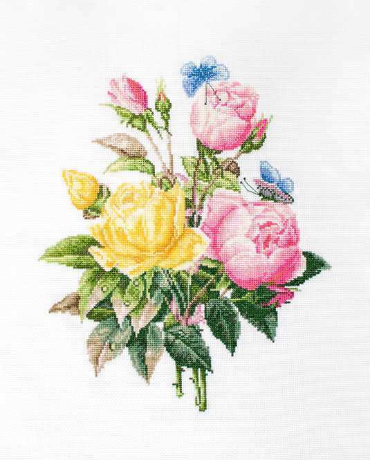 BU4003 Rosas amarillas y rosas de Bengala, Luca-S