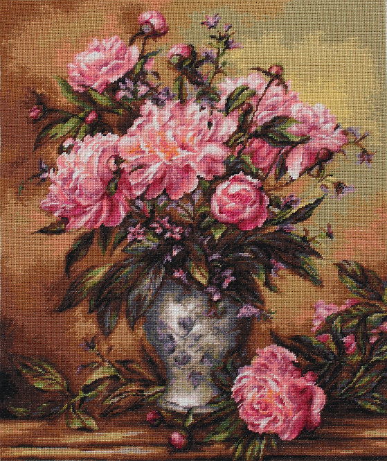 B543 Vase of Peonies