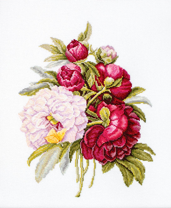 B2354 Bouquet with peonies