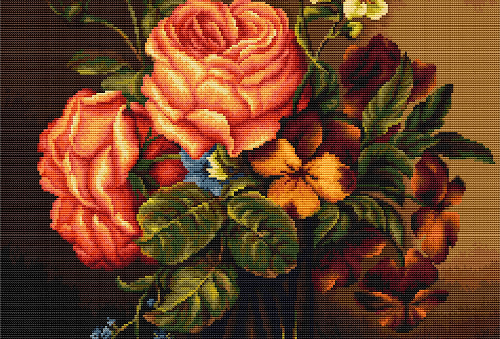 B491 Flower Vase - Cross Stitch Kit Luca-S