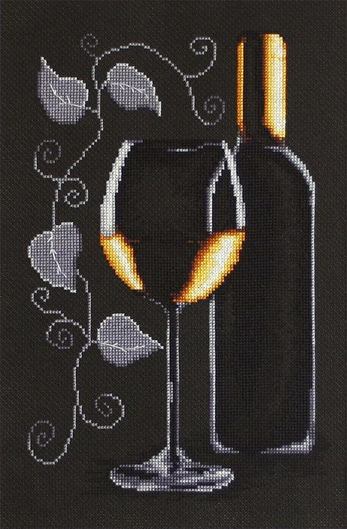 B2221 Bottle of wine - Cross Stitch Kit Luca-S